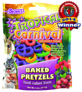2 oz. Tropical Carnival® Baked Pretzels Small Animal Treats