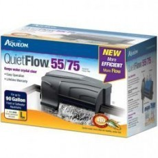 Aqueon QuietFlow 55/75 Aquarium Power Filter up to 90gal