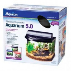 Aqueon Mini Bow Desktop Aquarium Kit Black 5gal