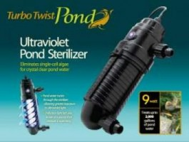 Coralife Turbo Twist Pond 3X UltraViolet Sterilizer 9W 500gal