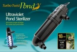 Coralife Turbo Twist Pond 8X UltraViolet Sterilizer 18W 1000gal