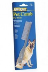 Four Paws Fine Flea Comb for flea removal on average coats