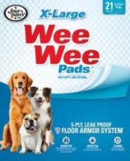 Four Paws Wee-Wee Pads X-Large Pad 21pk