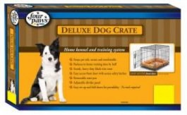 Four Paws Single Door Deluxe Crate- Divider Panel Included 36 x 22 x 25