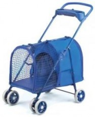 Four Paws Fresh Air Pet Stroller Blue