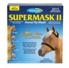 Farnam SuperMask II Horse Fly Mask Shimmer Weave Mesh Horse Copper Black