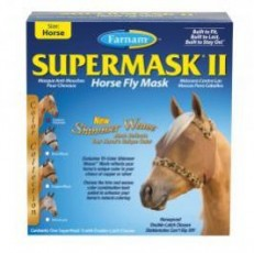 Farnam SuperMask II Horse Fly Mask Shimmer Weave Mesh Horse Copper Cheetah