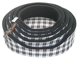 "Rop Black+White Tartan Nest Of 5 18-32"" Dog Beds"