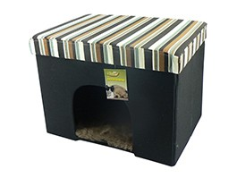 Living Den Brown 53Cm Cat+Small Dog Home
