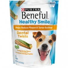 Purina Beneful Healthy Smile Dental Dog Treats Adult Small/Medium Twists 7.4 oz. Pouch