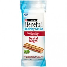 Purina Beneful Healthy Smile Dental Dog Treats Adult Small/Medium Ridges 1.27 oz. Pouch