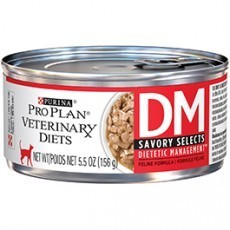 Purina Pro Plan Veterinary Diets Savory Select DM Dietetic Management Feline Formula Cat Food 5.5 oz. Can