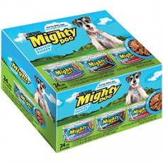 Purina Mighty Dog Dog Food in Gravy Variety Pack 24-5.5 oz. Cans