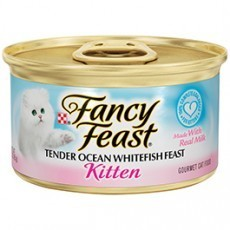 Purina Fancy Feast Kitten Tender Kitten Whitefish Feast Cat Food 3 oz. Can