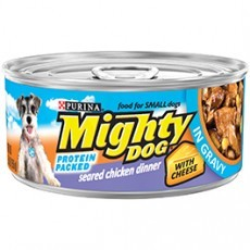 Purina Mighty Dog Seared Chicken Dinner with Cheese in Gravy Dog Food 5.5 oz. Pull-Top Can