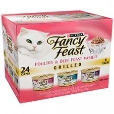 Purina Fancy Feast Grilled Poultry & Beef Feast Variety Cat Food 24-3 oz. Cans