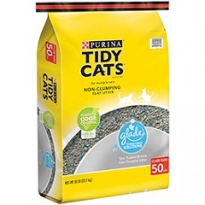 Purina Tidy Cats Non-Clumping Cat Litter with Glade Tough Odor Solutions for Multiple Cats 50 lb. Bag