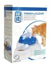 Fresh and Clear Drinking Fountain for Cats and Puppies