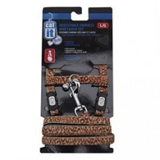 Catit Style Adjustable Harness and Leash Set, small, Animal