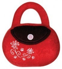 Dogit Luvz Dog Toys, Red/Brown Bag with flowers
