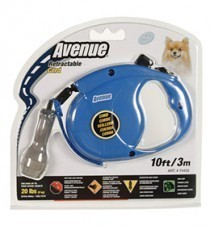 Avenue Retractable Cord Leash for Dogs, Extra Small, 10 feet, Blue