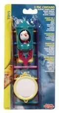 Living World Value Pack 3 Toys Assorted,(1) Plastic Ladder(1) Play Toy(1) Double-Sided Mirror