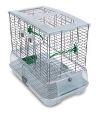 Vision Medium Bird Cage #M11, 25 inches x 16 inches x 21 inches, Large Wire, Single Height, Green Perches & Food/Water Dishes