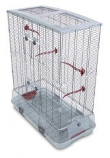 Vision Large Bird Cage #L02, 31 inches x 17 inches x 37 inches, Small Wire, Double Height, Terracotta Perches & Food/Water Dishes