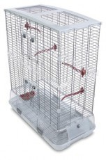 Vision Large Bird Cage #L12, 31 inches x 17 inches x 37 inches, Large Wire, Double Height, Terracotta Perches & Food/Water Dishes