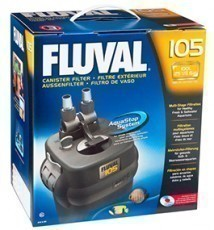 Fluval 105 Canister Filter, 125 gallons per hour