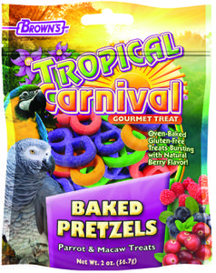 2 oz. Tropical Carnival Baked Pretzels Parrot & Macaw Treats