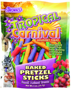 2 oz. Tropical Carnival® Baked Pretzel Sticks Small Animal Treats