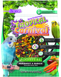1.5 lb. Tropical Carnival® ZOO-VITAL® Parakeet/Budgie Extruded Daily Diet
