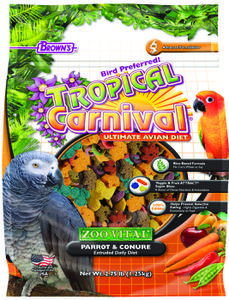 2.75 lb. Tropical Carnival® ZOO-VITAL® Parrot & Conure Extruded Daily Diet