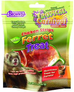 2 oz. Tropical Carnival® Natural Chicken Strips Ferret Treat