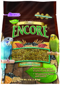 4 lb. Encore® Classic Natural Parakeet Food