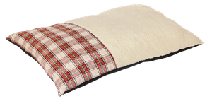 Happy Tails Classic Dog Bed - Plaid Bed - Red