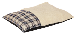 Happy Tails Classic Dog Bed - Plaid Bed - Navy