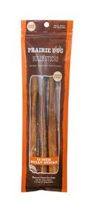 Prairie Dog Pet Products Odor Free Grass-Fed Bully Sticks, 12 inch, 3 count bag