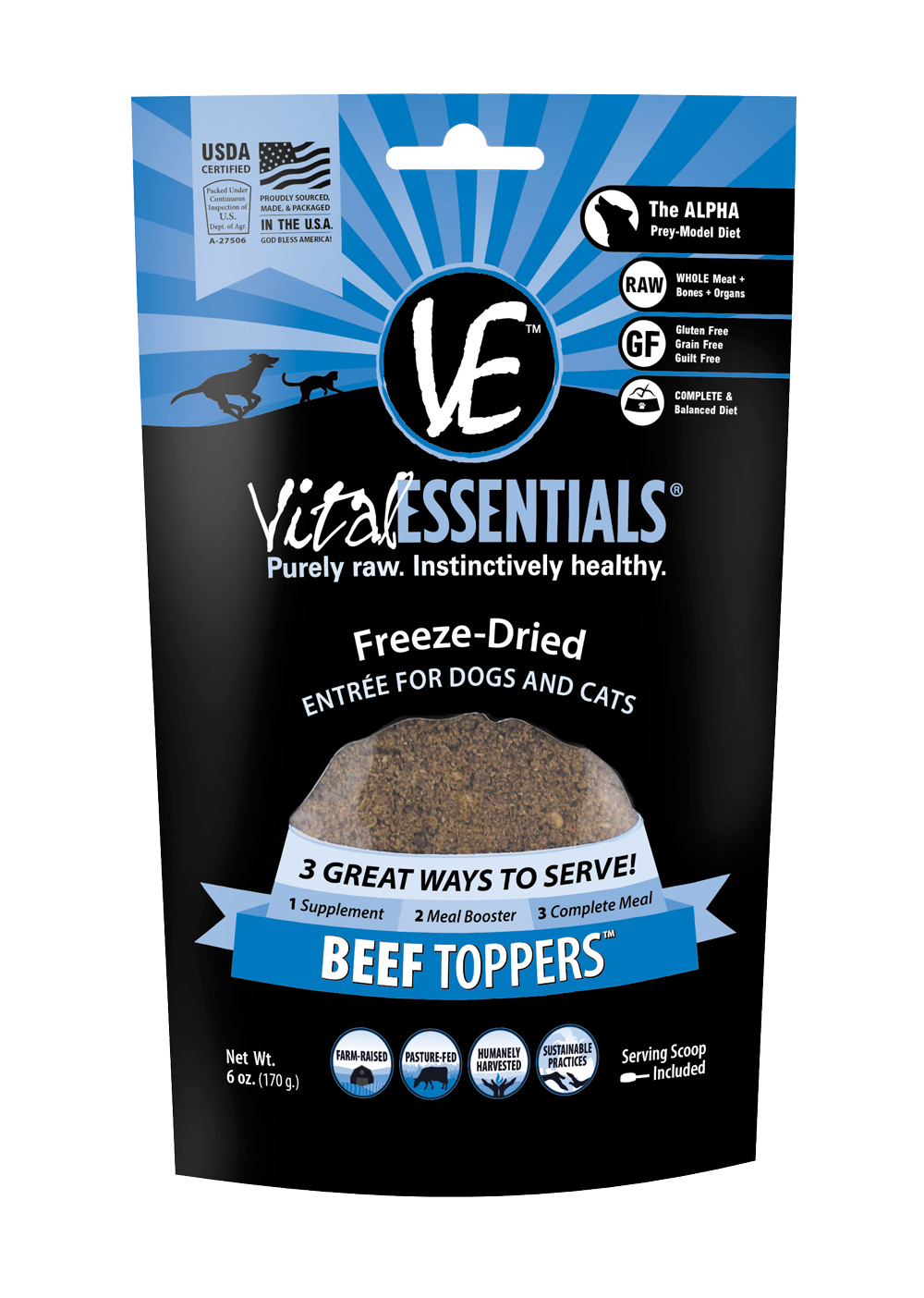 Vital Essentials Freeze-Dried Beef Toppers