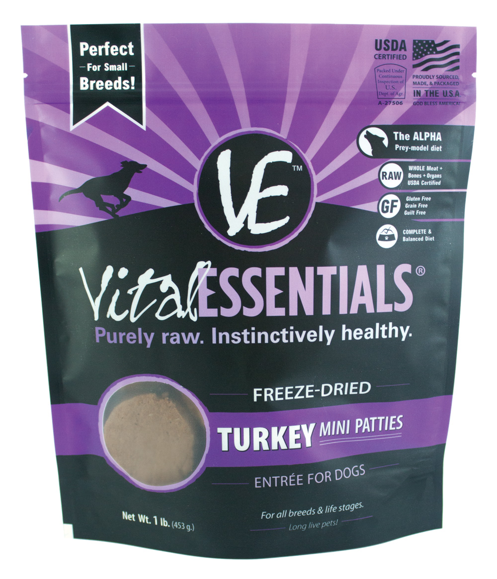 Vital Essentials Freeze-Dried Turkey Mini Patties