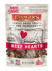 Nothing But Natural Gently Dried Beef Heart Treats for Dogs & Cats