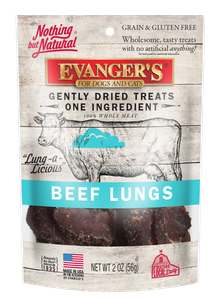 Nothing But Natural Gently Dried Beef Lung Treats for Dogs & Cats, 2 Oz.