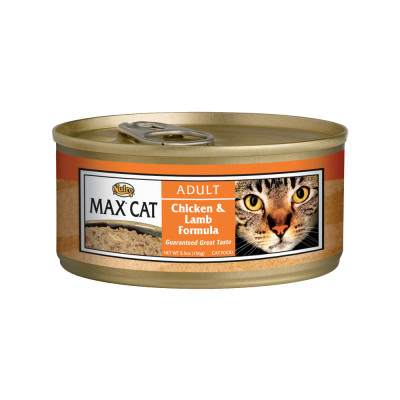 Nutro Max Cat Adult Chicken and Lamb Formula Canned Cat Food 5.5 Ounces (Pack of 24)