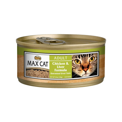 Nutro Max Cat Adult Chicken and Liver Formula Canned Cat Food 5.5 Ounces (Pack of 24)