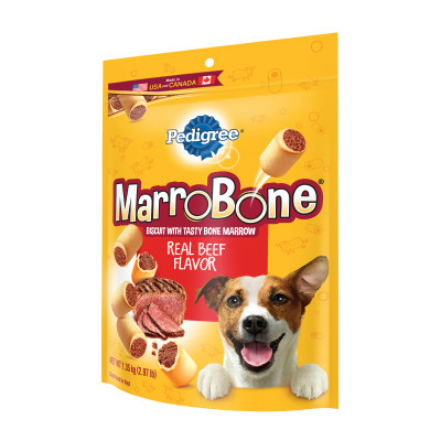 Pedigree Marrobone Real Beef Flavor Snacks For Dogs 2.97 Pounds