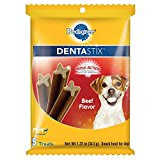 Pedigree Dentastix Beef Flavor Toy/Small Treats For Dogs 1.22 Ounces 5 Count