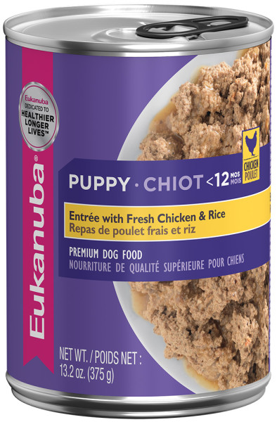 Eukanuba Puppy Entree With Fresh Chicken And Rice Canned Puppy Food