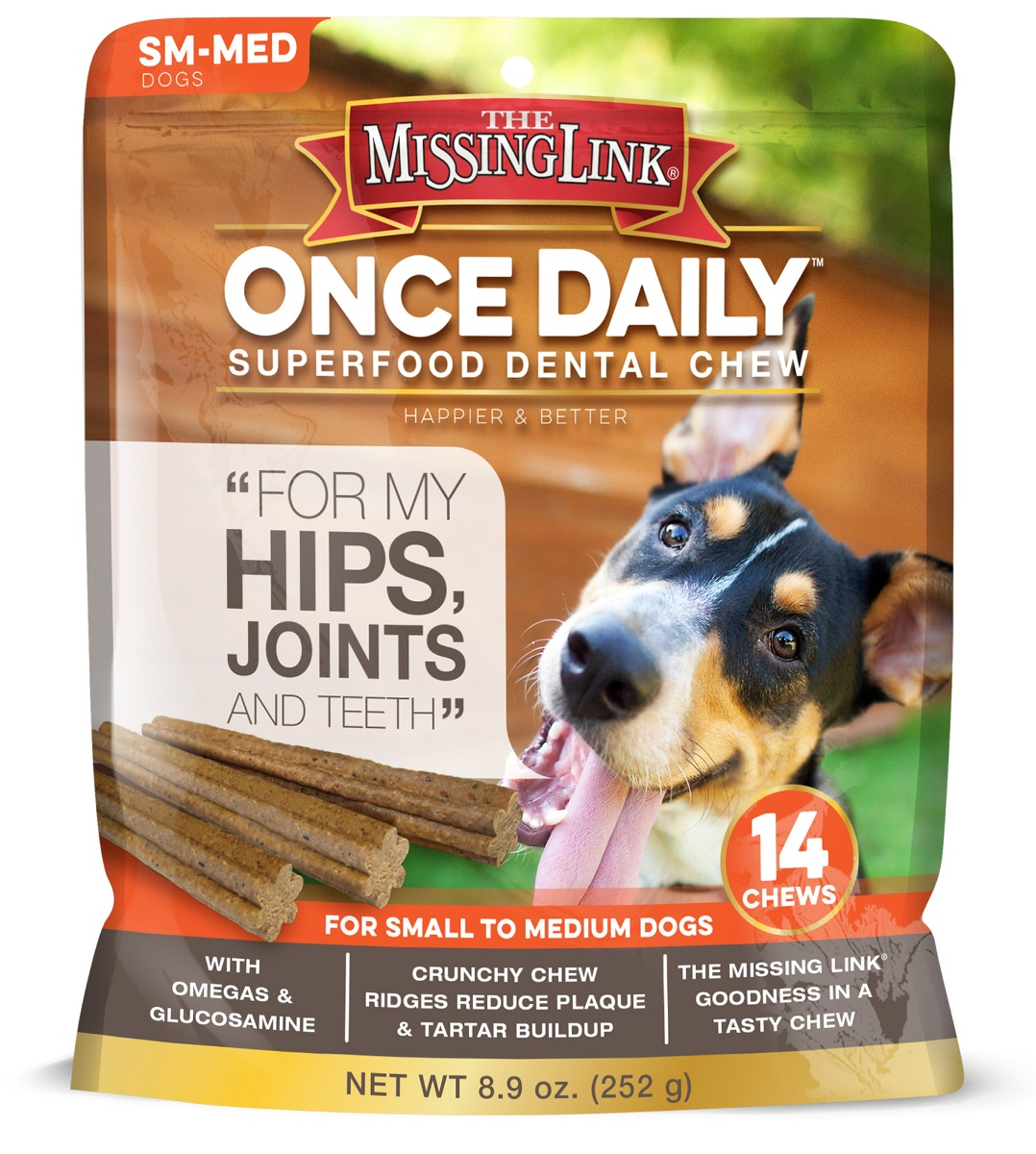 The Missing Link® Once Daily Hip & Joint for Small/Meduim Dogs, 14 ct