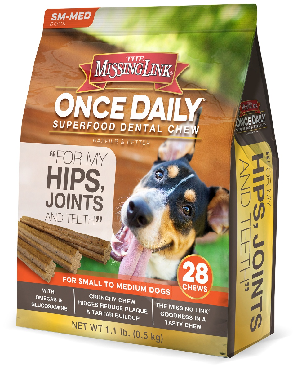 The Missing Link® Once Daily Hip & Joint for Small/Meduim Dogs, 28 ct